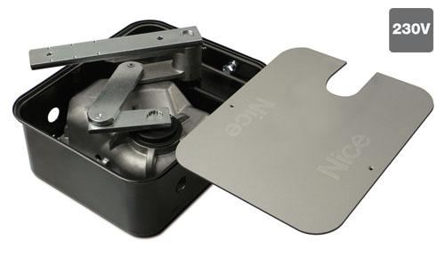 Привод для распашных ворот Nice ME3010 c фундаментной коробкой с катафорезным покрытием MECF