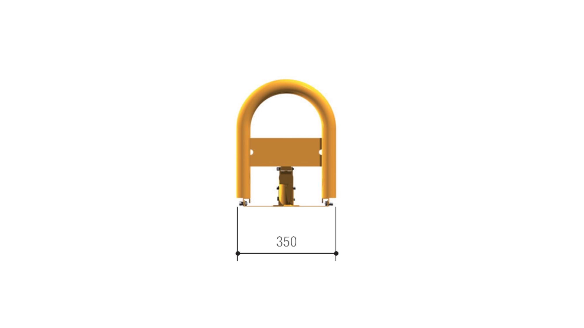 Габаритные размеры автоматического барьера UNIPARK2