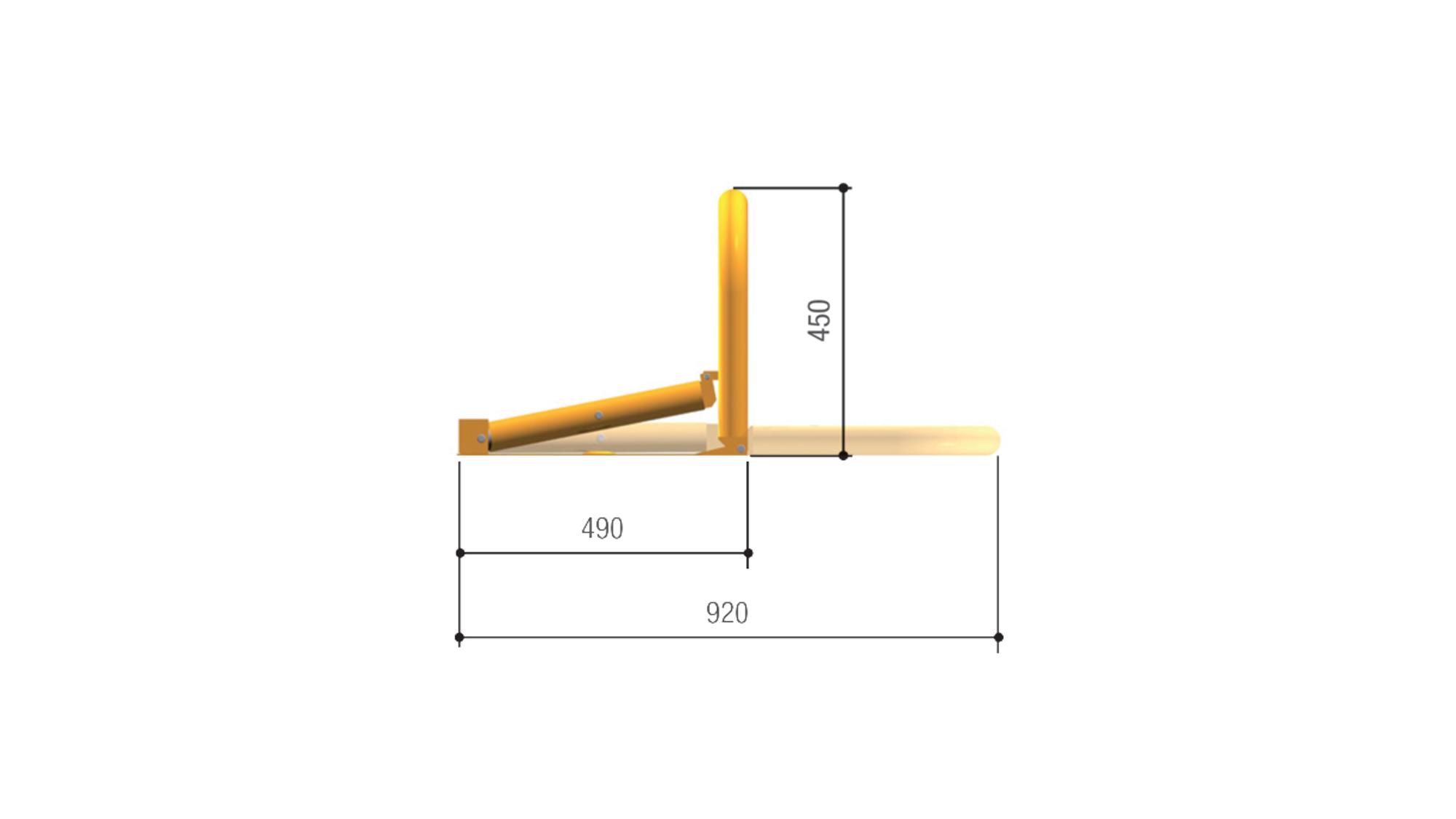 Габаритные размеры автоматического барьера UNIPARK3