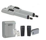 Комплект электромеханических приводов 415 LLS KIT с двумя радиопультами (брелоками) управления и фотоэлементами безопасности, для распашных ворот с шириной створки до 3 м.