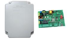 Плата управления E045 для 2х моторов 230В, входы фотоэлементов    BUS 2EASY, радиоразъем XF.