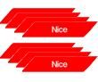 Cветоотражающие наклейки NK1 (12 штук) на стрелу шлагбаума Nice