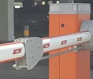 Тумба шлагбаума WIDEM, рейка шлагбаумная 45x58x5200мм XBA19-5RU, демпфер XBA13-10RU, наклейки светоотражающие (комплект) NK1