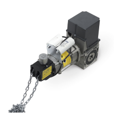 Привод для промышленных секционных ворот SDN-140-20 (400 В, 140 Нм, 20 об.мин, вал 25,4 мм, цепь 5м, IP54)