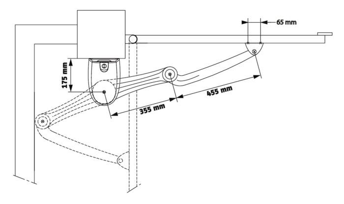 Монтажные размеры электроприводов AXOVIA 220 B NS