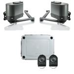 Комплект AXOVIA MultiPro 3S RTS электроприводов Somfy с двумя радиопультами (брелоками) управления KeyGo 4 RTS, для распашных ворот весом до 600 кг и шириной проема 5 метров
